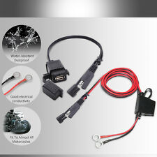 Motorcycle Waterproof USB Charger SAE to USB Adapter 2.1A Cable Kit for MP3 MP4