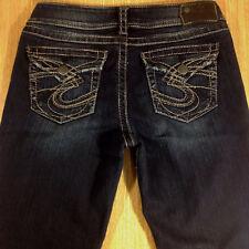 SILVER Jeans SUKI SURPLUS Bootcut 29x32 Darker Distressed  *MINT LN*  L030718