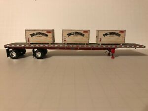 1/64 scale trailer load set of 3 TRUCK LOAD OF FUN Harley        ertl, dcp, semi