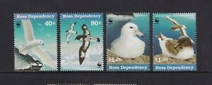 Ross Dependence - 1997,Antarctique Mer Oiseaux Ensemble Avec Wwf Emblem - MNH -