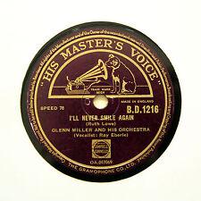 """GLENN MILLER ORCHESTRA """"I'll Never Smile Again"""" (N-) HMV BD-1216 [78 RPM]"""