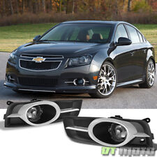Smoke 2010-2014 Chevy Cruze Bumper Fog Lights Driving Lamps w/ Switch Left+Right