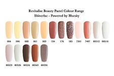 Shinerlac Nail Polish Colours UV/LED Soak off gel 10ml - NEW PASTEL COLOUR RANGE