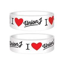 Official - I Love Union J - White Rubber Gummy Wristband