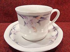 """ROYAL DOULTON """" NIMBUS """" Pink Flora TEA CUP & SAUCER"""