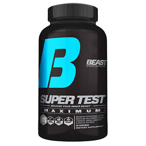 Beast Sports Super Test Maximum (120ct) Testosterone booster & muscle building