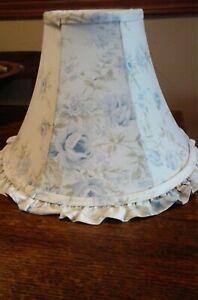 "Simply Shabby Chic Rachel Ashwell Blue British Rose Fabric Lamp shade 9""h 13""w"