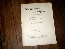 près du fleuve de Babylone choeur 4 voix mixtes et orgue 1925 Niedermeyer