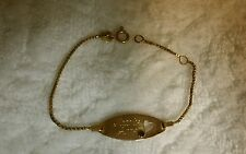 14kt Baby Bracelet ID Natalie Anne name Yellow Free shipping