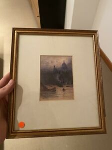 Maria Eaton framed watercolour painting