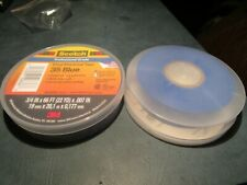 "New listing 3/4"" x 66' Blue Scotch 35 Vinyl Electrical Color CodingTape 2 Pack"