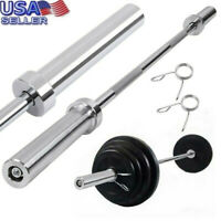 "5' Olympic Weightlifting Bar for Cross Training Weight Lifting with 2"" Hole"