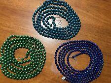 Total Of 286� Antique Vintage Aqua,Green,Blue 1/2� Beads Mercury Glass Garland