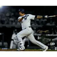 Gary Sanchez Signed 'Swinging' 8x10 Metallic Photo Steiner Sports Certified