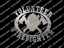 Volunteer Firefighter Fire Department Fireman Metal Sign Christmas Gift Idea
