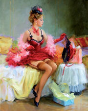Home deco Wall Art Print Sexy woman Oil Painting HD Printed on Canvas L1557
