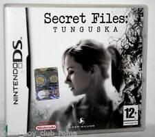 SECRET FILES TUNGUSKA GIOCO USATO OTTIMO NINTENDO DS & 3DS EDIZIONE UK FR1