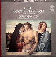 Verdi Four Sacred Pieces Giulini Philharmonia NEAR MINT Angel S-36125 + insert