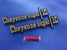 NEW 1973-76  Chevy Pickup Cheyenne Super 10 Fender Emblems GM Licensed 328857