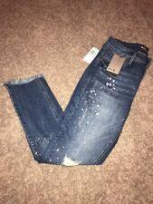 NEW Women's Size 6 Seven 7 Jeans Embellished Ankle Skinny Denim Jeans MSRP $79.