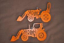 Kubota Tractor  Wood Christmas Ornaments Hand Made USA