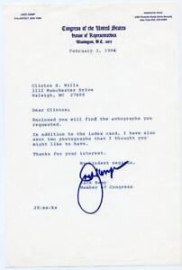 JACK KEMP Signed Letter NFL Chargers Bills New York Congress Autograph ALS