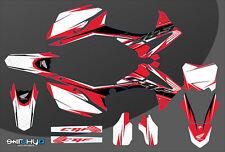 KIT ADESIVI GRAFICHE RACE ONE WHITE HONDA CRF 250 2014 2015 2016 2017