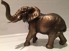 Reflections Bronzed Elephant Ornament Figurine Figure Gift Present