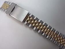 Center Link Attachment 8.2mm Mens Vintage Watch Band Jubilee Deployment Clasp