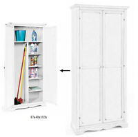 ARMADIO 11520 PORTA SCOPE ARTE POVERA BIANCO LACCATO cm 87x40x192H