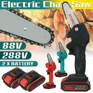 "4"" 800W One-Hand Saw Electric Chain Saw Wood Cutter Cordless Kit For Woodworking"