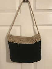 THE SAK Black & Natural/Tan Shoulder Bag Handbag Purse