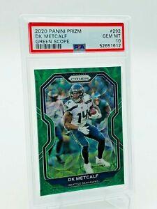 2020 Panini Prizm DK Metcalf GREEN SCOPE Prizm Card 27/75 #292 PSA 10 - Seahawks