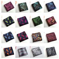 Men Jacquard Pocket Square Paisley Floral Pattern Handkerchief HZTIE0049