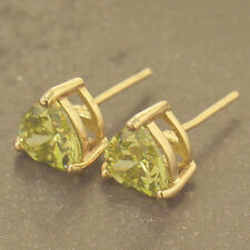 Peridot Stud Yellow Gold Filled Fashion Earrings