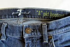 "Women's 7 for All Mankind ""A"" Pocket Boot Cut Sandblasted Jeans Size 30"