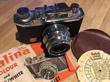 Vintage Halina 35X Camera with Lens Hood & cased Kodak Exp. Calculator