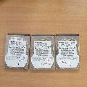 """3x Toshiba 2.5"""" 640GB SATA Hard Drives HDD2L02 B UL01"""
