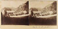 SUISSE Alpes Montagne Saint-Gothard, Photo Stereo Vintage Citrate PL61L11104