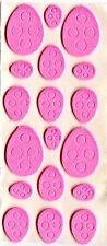 Foam Easter pink eggs 90 sticker, 5 sheets.