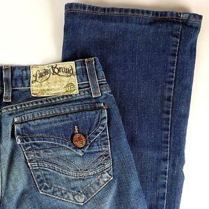 Lucky Brand Womens Denim Jeans 25 Lil Lavish Gene Montesano Dungarees Button Fly