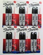 12 Black Ink Chisel Tip Sealed Sharpie Permanent Markers Large Sign Marker New