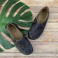 L'Artiste Spring Step Womens Loafer Flats Size38 Libora Navy Blue Floral Leather