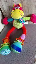 Doudou Peluche hippopotame jambes bras coulissant activités d'éveil Bébé Confort