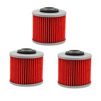 3Pcs Oil Filter For Yamaha XV535 XVS1100 SRX600 FZR250 XT500 Aprilia Pegaso 650