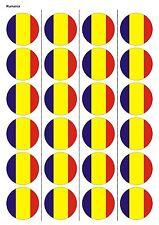 24X PRECUT ROMANIA FLAG BIRTHDAY EDIBLE WAFER PAPER, CUPCAKE, CAKE TOPPERS 1220