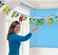 TELETUBBIES LETTER BANNER KIT - Incl. stickers for children's ages PARTY bunting