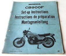 Istruzioni di montaggio negozio Manual set-up instructions HONDA CB 900 F, 1981