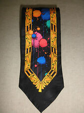 RUSH LIMBAUGH NO BOUNDRIES COLLECTION BOLD POWER SILK TIE NECKTIE with CHAIN