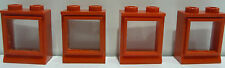 4 x LEGO® Fenster alt 60er Jahre rot 2x2 wie auf dem Foto.